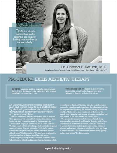 Exilis Therapy Magazine Article - Click to download PDF