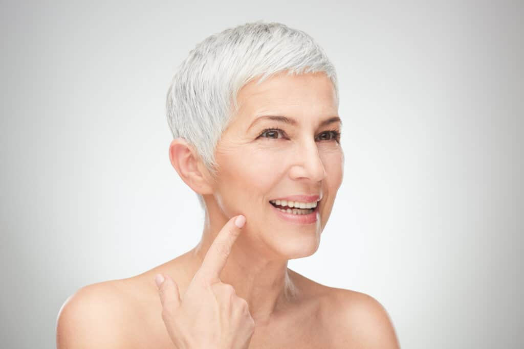 senior women with facelift